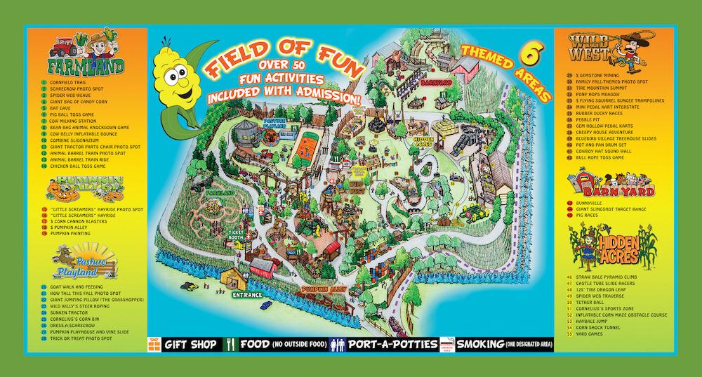 Corn Cob Acres Field of Fun Map